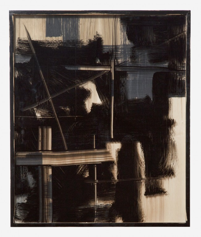 Untitled (Black Painted Frame) 2011 Enamel on glass and wood