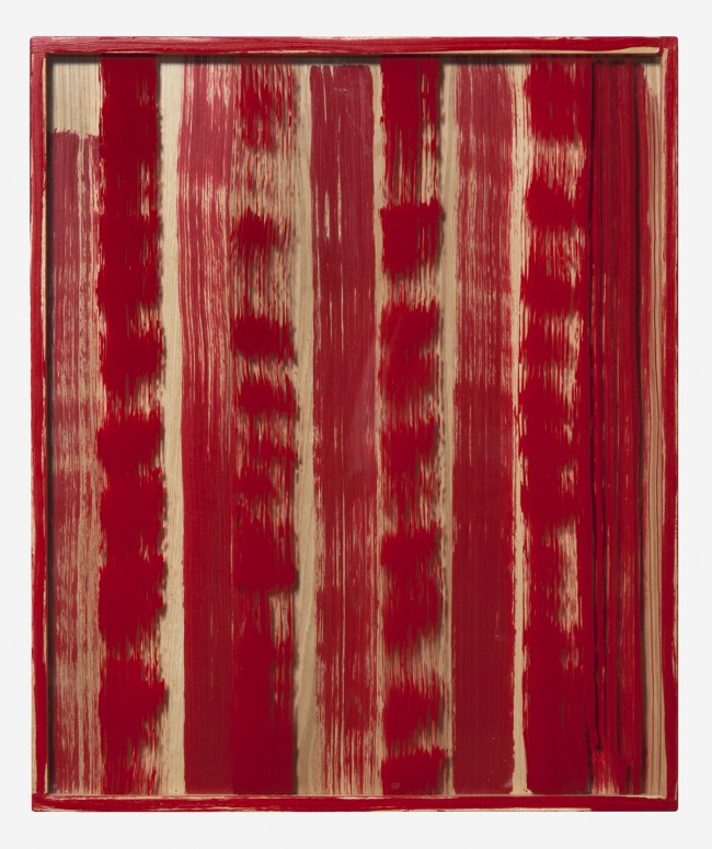 Untitled (Red Painted Frame) 2011 Enamel on glass and wood