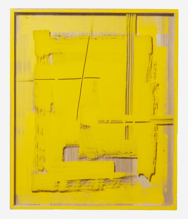 Untitled (Yellow Painted Frame) 2011 Enamel on glass and wood