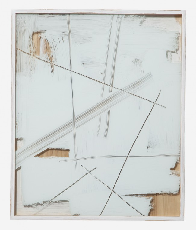 Untitled (White Painted Frame) 2011 Enamel on glass and wood